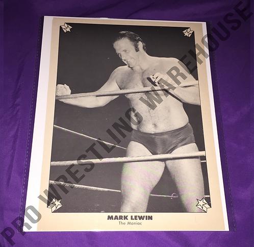 """Maniac"" Mark Lewin Vintage Wrestling Pin-Up"