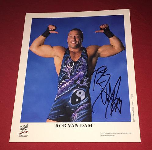 Rob Van Dam Autographed WWF/WWE 8x10 Promo Photo