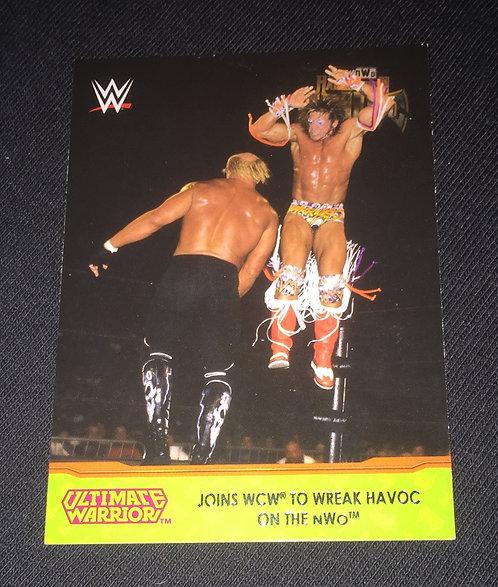 Ultimate Warrior -vs- Hulk Hogan, WWE/WCW Wrestling Trading Card
