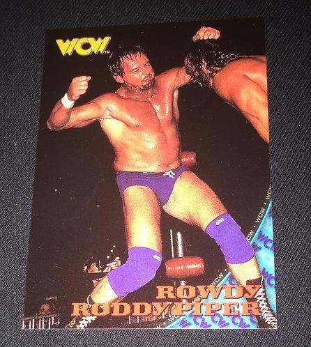 """""""Rowdy"""" Roddy Piper WCW Nitro Wrestling Trading Card"""
