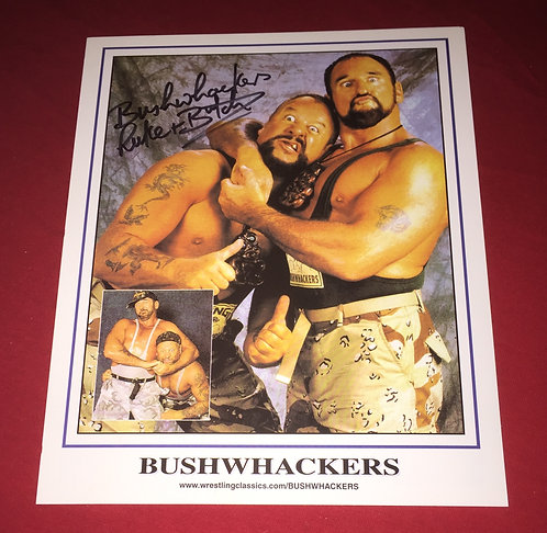 The Bushwhackers Autographed 8x10 Promo Photo