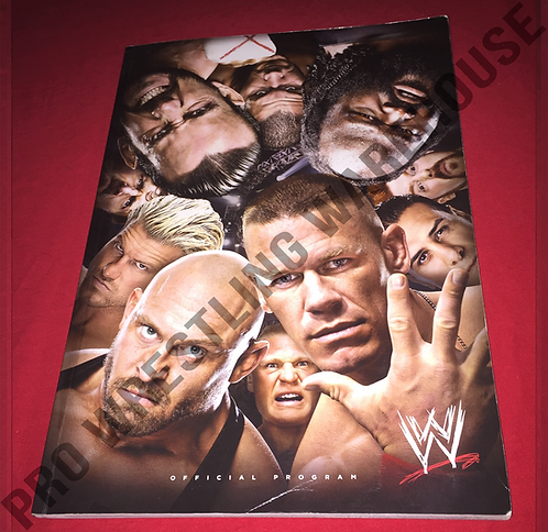 WWE Live Events Wrestling Program - 2 Sided,HHH,Kane,Cena,CM Punk,Mark Henry