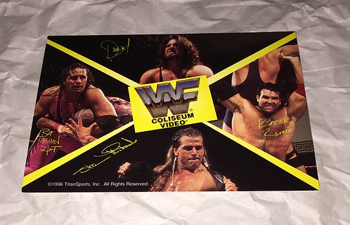 WWF/WWE Coliseum Video Collectors Postcard (1996)