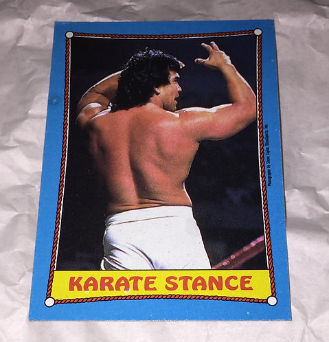 "Ricky ""The Dragon"" Steamboat WWF/WWE Wrestlemania 3 Wrestling Trading Card"