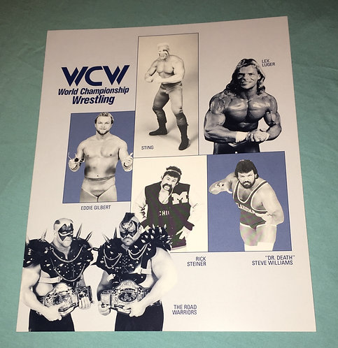 WCW 8x10 Promo Photo from 1989, Autographed on the back by The Dynamic Dudes!