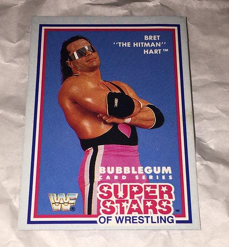 "Bret ""HitMan"" Hart WWF/WWE Rare 1989 Wrestling Trading Card"