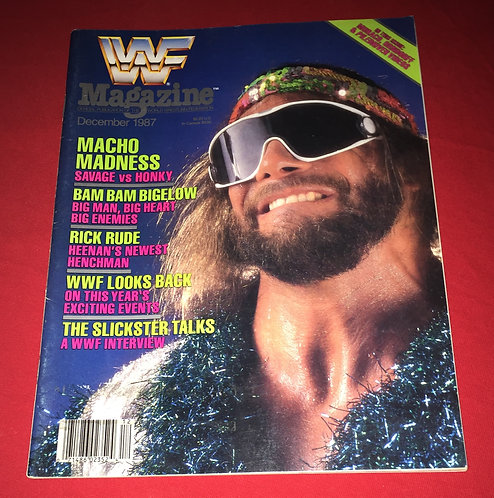 "WWF/WWE Magazine December 1987 - ""Macho Man"" Randy Savage"