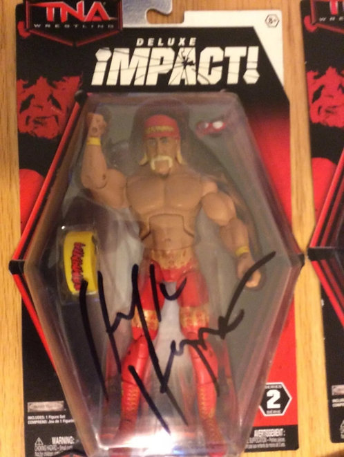 Hulk Hogan Autographed TNA Wrestling Figure