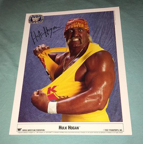 Hulk Hogan WWF/WWE Promo Photo (1990)