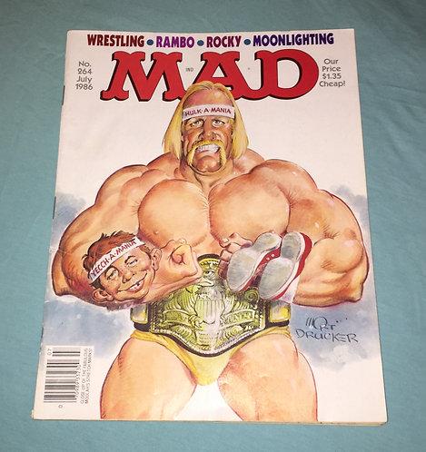 Mad Magazine July 1986, No. 264, Hulk Hogan, WWF, WWE, Wrestling