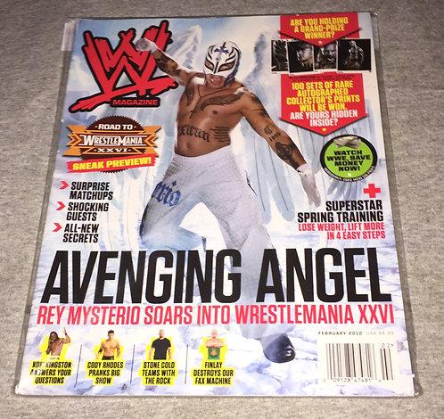 WWE Magazine February 2010 - Rey Mysterio (Comes with 4 B/W Promo Photos)