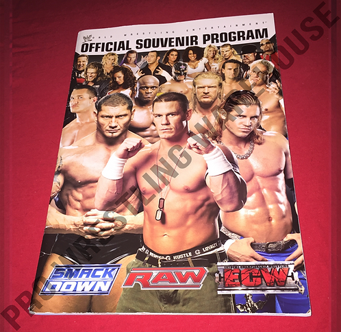 WWE Live Events Official Wrestling Program - Smackdown,RAW,ECW