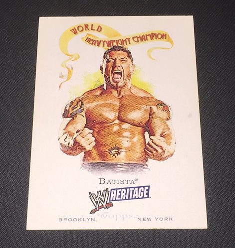 Batista WWE Wrestling Trading Card