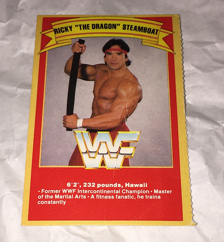 """Ricky """"The Dragon"""" Steamboat WWF/WWE Rare Wrestling Trading Card"""