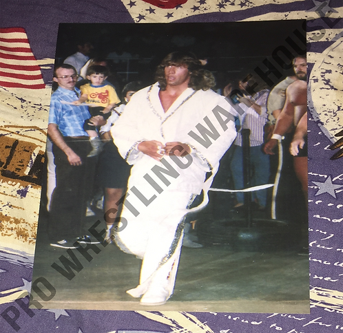 Kerry Von Erich 4x6 Wrestling Photo, WCCW, White Robe, Walking to ring