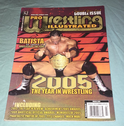 Pro Wrestling Illustrated Double Issue - March 2006 Batista