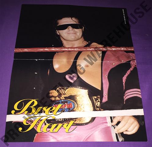 """Bret """"HitMan"""" Hart, WWF, WWE, Wrestling Poster"""