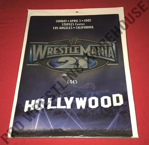 WWE Wrestlemania 21 Official Program - Wrestlemania Goes Hollywood