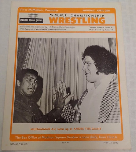 WWE Wrestling Program (WWWF) April 21st, 1976 Madison Square Garden