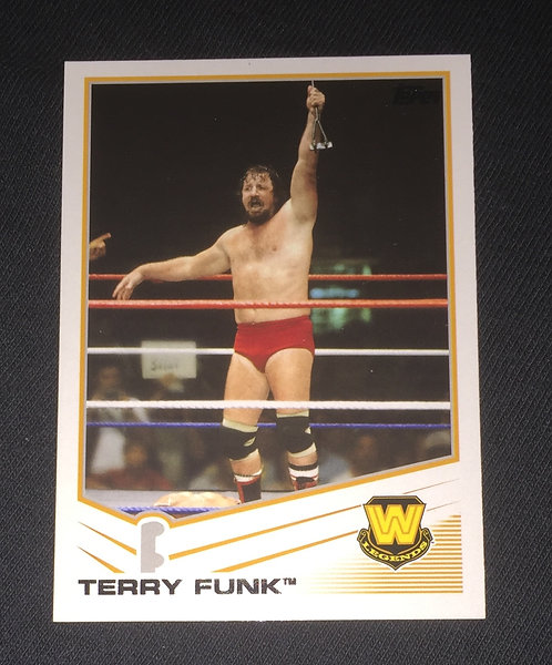 Terry Funk WWE Wrestling Trading Card