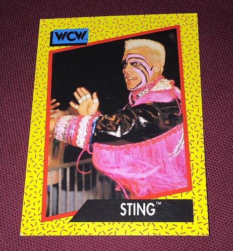 Sting WCW Wrestling Trading Card