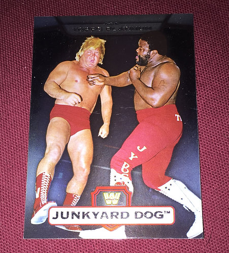 JunkYard Dog -vs- Greg Valentine WWE Wrestling Trading Card