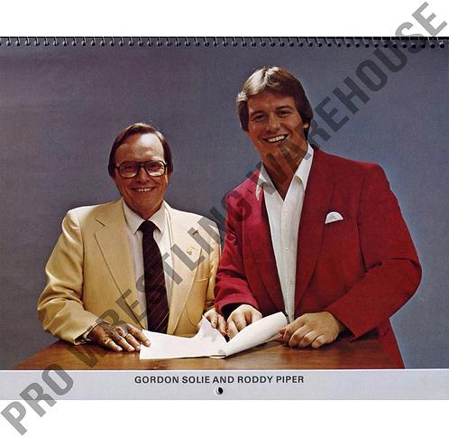 Georgia Championship Wrestling Calendar - 1983, Roddy Piper & Gordon Solie, NWA