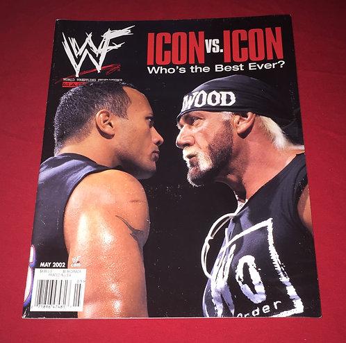 WWF/WWE Wrestling Magazine May 2002 - Hulk Hogan -vs- The Rock