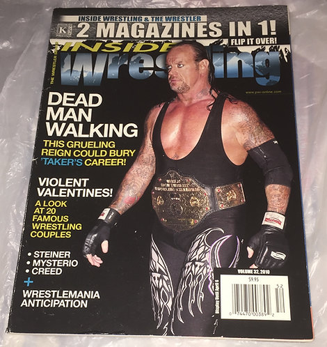 Inside Wrestling -The Wrestler - 2 Magazines In 1- Vol 32 - 2010  Undertaker