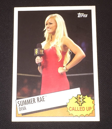 Summer Rae - NXT Called Up, WWE Wrestling Trading Card