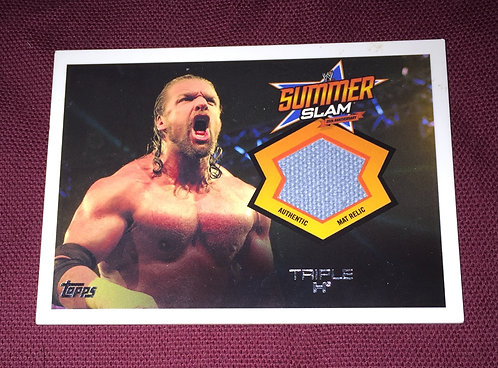 Triple H (HHH) WWE Summer Slam Mat Relic Wrestling Card