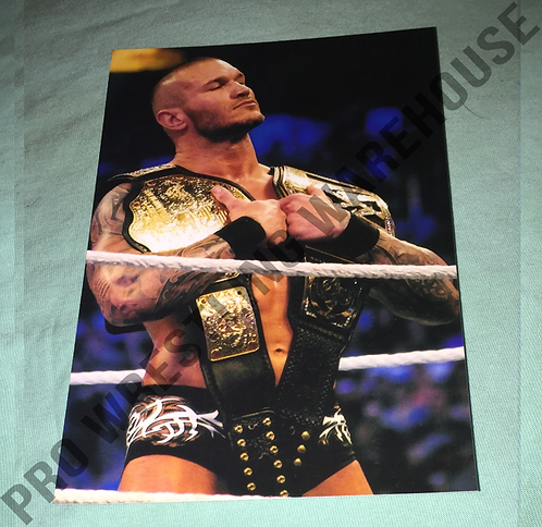 Randy Orton 4x6 Wrestling Photo - With WWE Belts