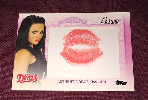 Aksana Authentic Divas Kiss Card - Wrestling Card
