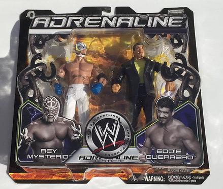 WWF/WWE Jakks Eddie Guerrero -vs- Rey Mysterio Wrestling Figures