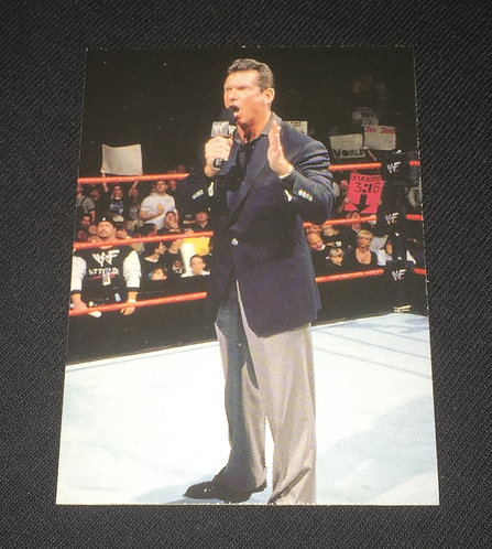 Vince McMahon WWE Wrestling Trading Card