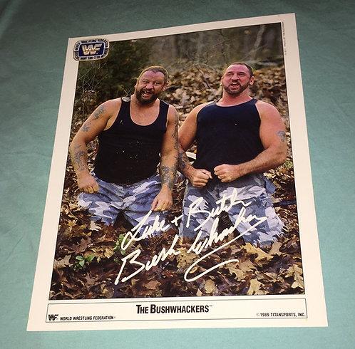 Bushwhackers WWF/WWE Promo Photo (1989)