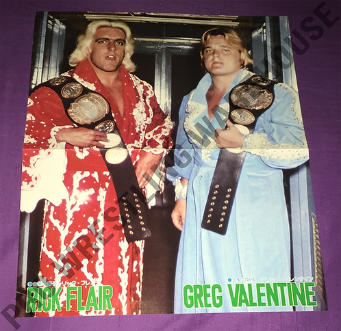 Ric Flair & Greg Valentine with Belts - Vintage Poster from Japan