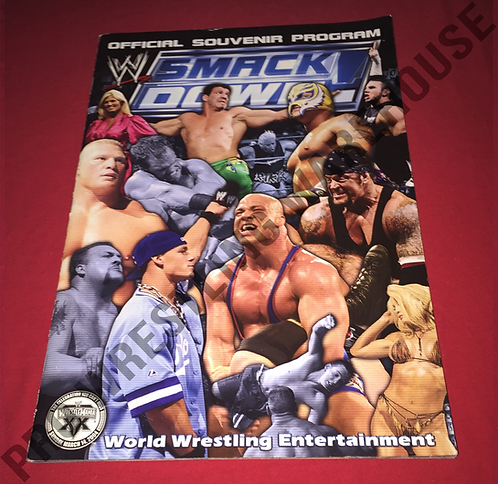 WWE Smackdown Live Events Program - Eddie Guerrero,Cena,Undertaker,Angle,Lesnar