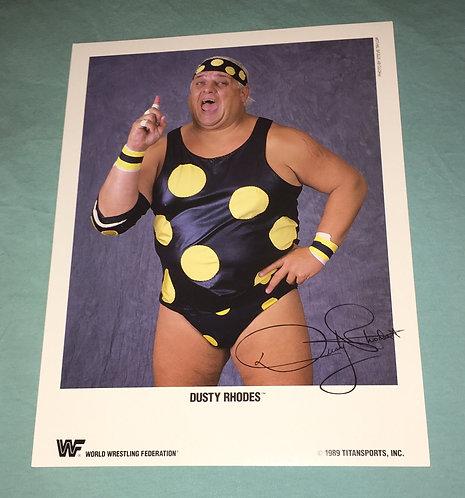 "Dusty Rhodes ""The American Dream"" WWF/WWE Promo Photo (1989)"