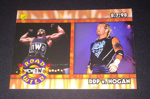 "Hulk Hogan -vs- DDP WCW ""Road Wild"" Wrestling Trading Card"