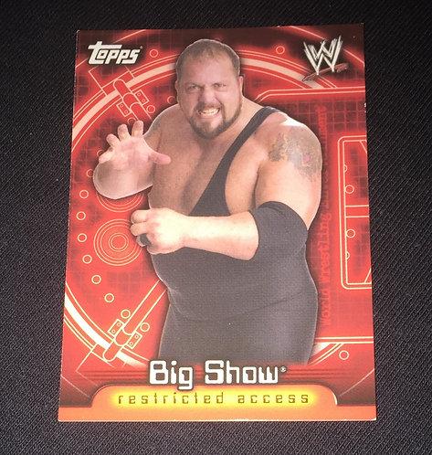 Big Show WWE Wrestling Trading Card