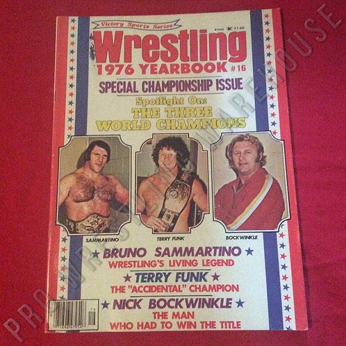 Wrestling Yearbook - 1976