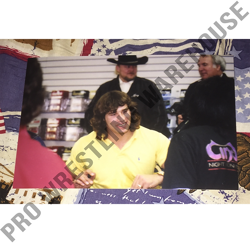 Kerry Von Erich at Autograph Signing, 4x6 Wrestling Photo, WCCW, World Class