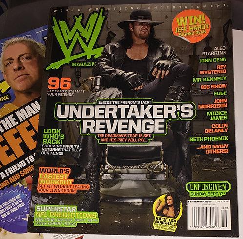 WWE Magazine September 2008 - The Undertaker, Ric Flair WWE Advertisement