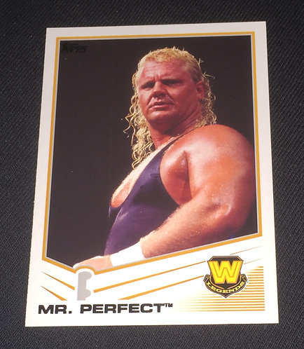 Mr. Perfect WWE Legends Wrestling Trading Card