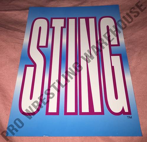 STING Logo 4x6 WCW Wrestling Promo Photo