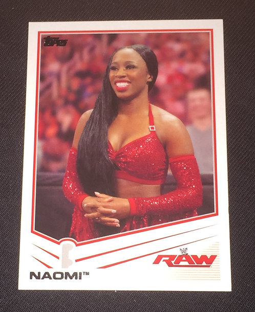 Naomi WWE Wrestling Trading Card