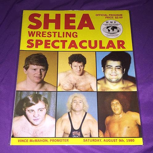 "WWWF Wrestling Program ""Showdown at Shea"" August 9th, 1980, Bruno -vs- Zbyszko"
