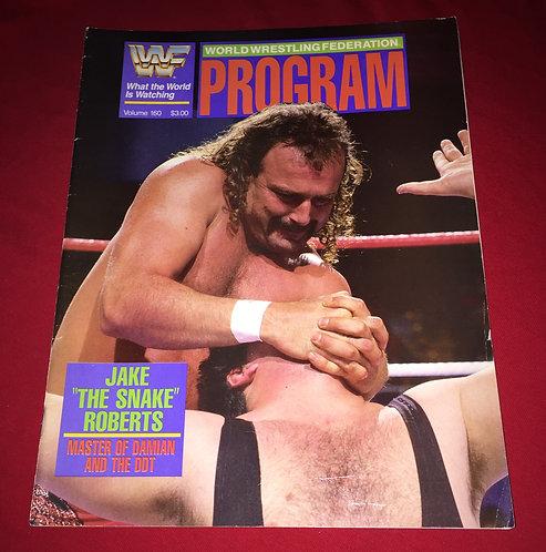 "WWF/WWE Wrestling Program #160, Jake ""The Snake"" Roberts"