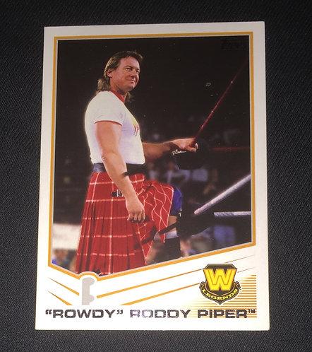 """""""Rowdy"""" Roddy Piper WWE Wrestling Trading Card"""